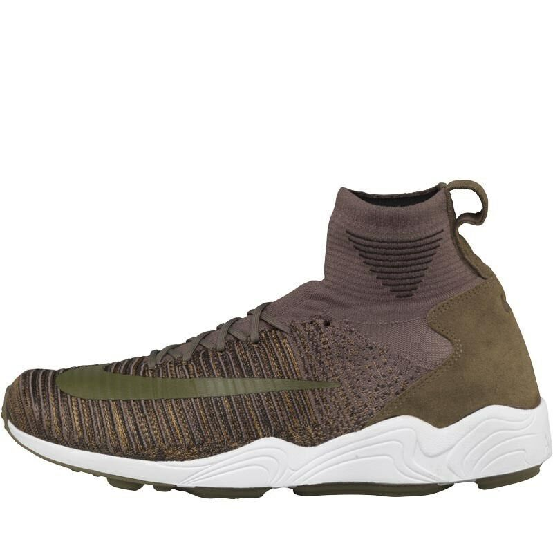 Nike Mens Zoom Mercurial XI Flyknit Trainers Medium Olive