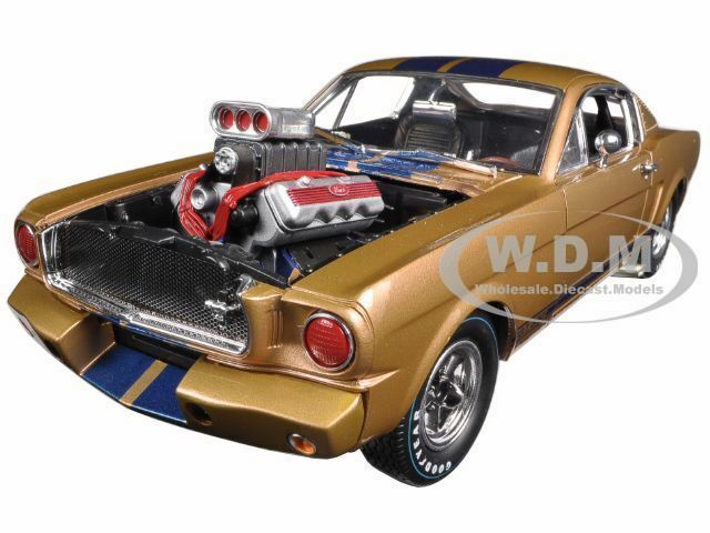 1965 Ford Shelby Mustang Gt 350R Gold Blau 1 18 Shelby Collectibles SC179