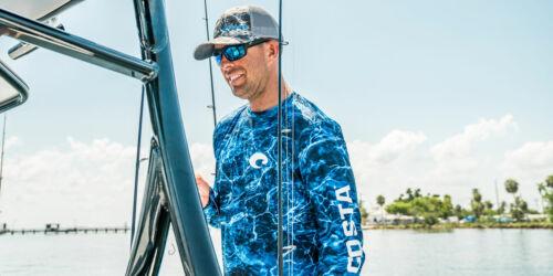 Costa Mossy Oak Elements Performance Fishing Shirt Blue Pick Size-Free Ship