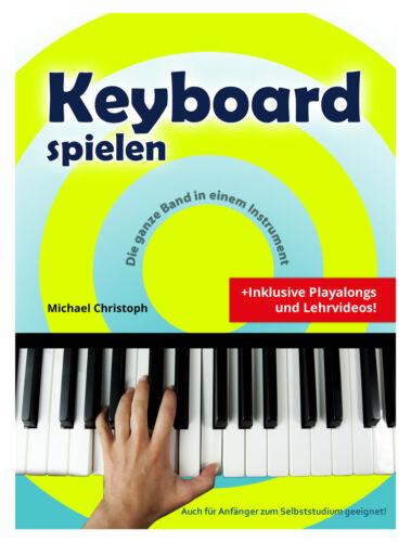 Digitales 49-Tasten Keyboard Set E-Piano Schüler Noten Kinder Demo Schwarz