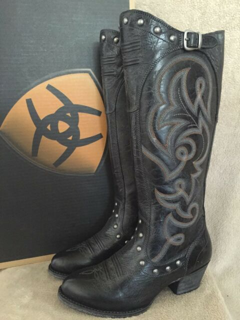 ARIAT 10014130 Wanderlust Onyx Almond Toe Leather Boots Shoes US 7 M EU 37.5 NWB