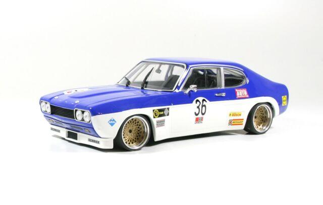 Ford Capri MK1 RS 2600, blau/weiß DRM,  BBS E50 Alufelgen 16 Zoll Umbau 1/18