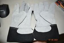 5 Pairs Heavy Duty Leather Palm Work Multipurpose Gloves With Safety Cuff L