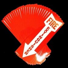 Lot Of 25 4 X 12 Self Adhesive Vinyl Fire Extinguisher Arrow Signsnew