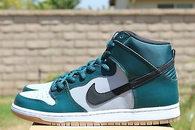 NIKE DUNK HIGH PRO SB SZ 10.5 DARK ATOMIC TEAL BLACK WOLF GREY 305050 306