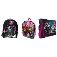 MONSTER HIGH PINK/BLACK SCHOOL BAG BACKPACK RUCKSACK NEW 100% OFFICIAL