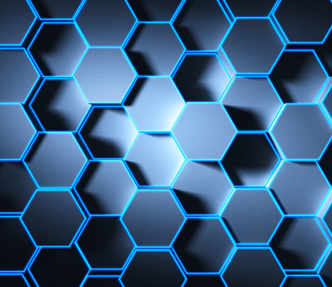 3D Blau honeycomb 1 WallPaper Murals Wall Print Decal Wall Deco AJ WALLPAPER