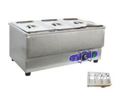 Techtongda 110v 3 Pot Bain Marie Buffet Food Desktop Warmer Stainless Steel