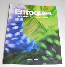 Enfoques Curso Intermedio Lengua Espanola 3rd Edition 2012 PB Spanish Edition