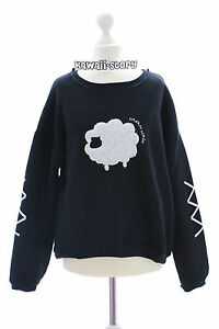 ts-30-2-animal-noir-agneau-Sweat-Pull-pastel-gothique-lolita-harajuku-Japon