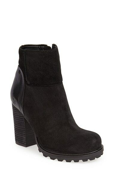 New Sam Edelman FRANKLIN Trendy Black Boot Chunky Chunky Chunky Stacked Heel Sz 10M 53a05d