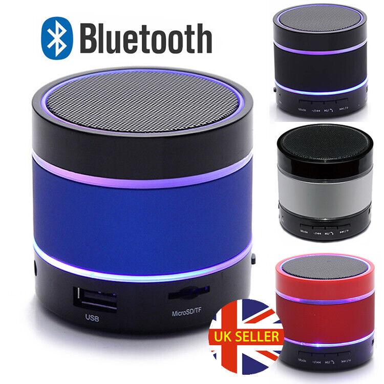 LED Bluetooth Wireless Portable Speaker Mini Loud Bass For Samsung iPhone iPad