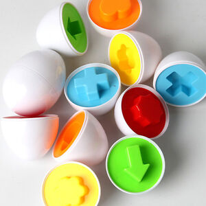Baby Kids  Simulation Eggs Puzzle Toy Learning Development Educational Toys rLON