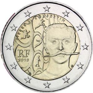 France-2-euro-coin-2013-034-150th-Anniversary-of-Pierre-de-Coubertin-039-s-Birth-034-UNC