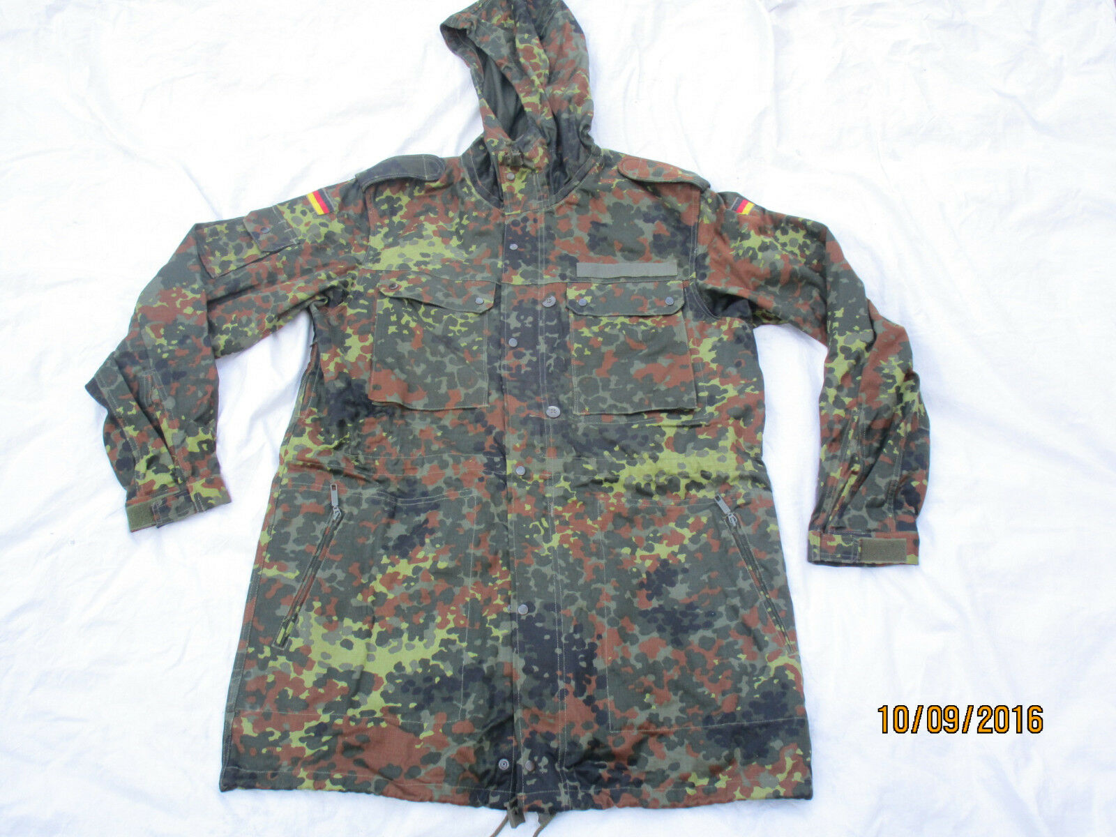 BW spotted camo parka ,Bundeswehr ,size 14, 185-195 105 dated 1991