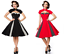 Dd Femme Robe Noir Large Vintage Dot Rouge Bolero Jupe Avec Playsor Polka Coeur Avec OWHdxWn