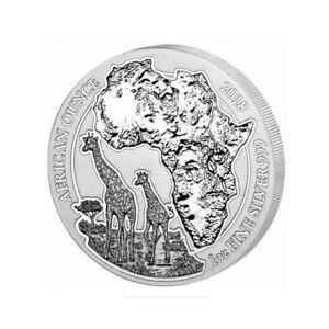 Rwanda-50-Francs-2018-Giraffe-African-wildlife-Ounce-1oz-SILVER-Coin-real-UNC