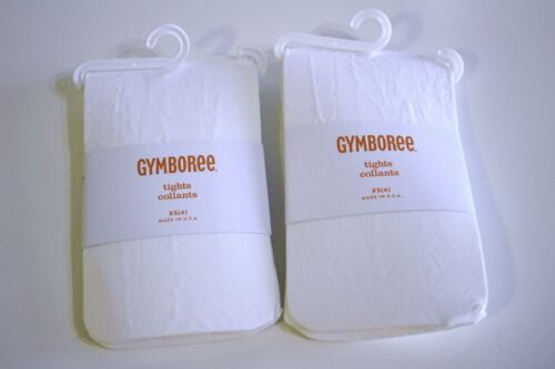 Gymboree Solid White Tights Dainty Pointelle Detail Lot Size XS 4 Retail $29