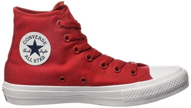 Converse Chuck Taylor All Star II Hi Red Salsa 150145c Mens 10 ... cc2ee2ff7f