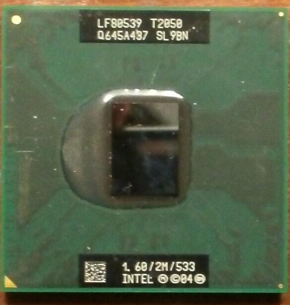 Intel Core Duo CPU 1.6 GHz 2M 533 Mhz T2050 Mobile Laptop CPU Processor SL9BN