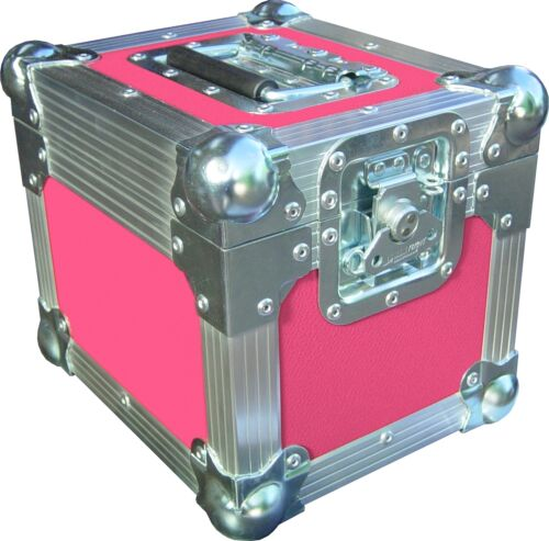 "7/"" Single 100 Swan Flight Case Vinyl Record Box Pink Rigid PVC"