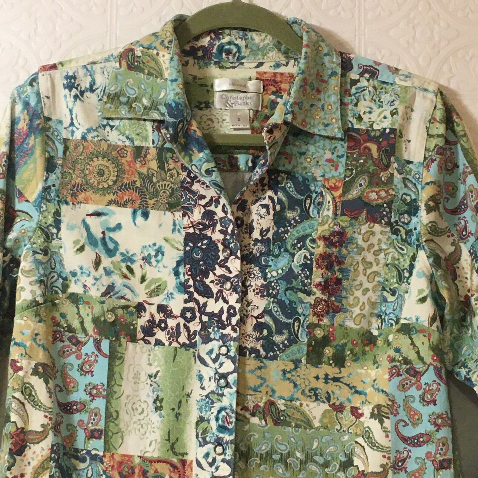 CHRISTOPHER & BANKS Jacket Women's Size Small Pea… - image 10