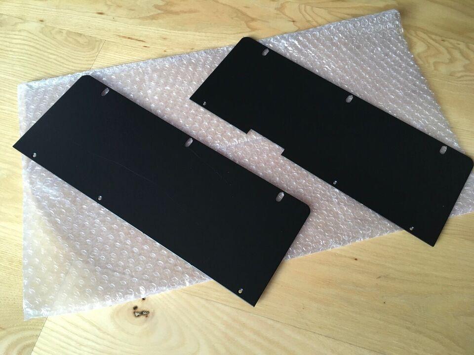 Rackplader, håndtag, slatwall og Voodoo Lab kit
