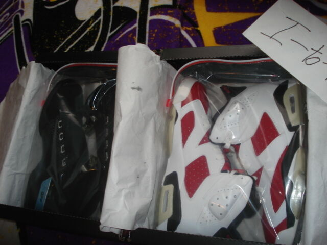 Nike Air Jordan Collezione Pack vi size 10.5 17/6 Carmine vi Pack xvii xi iii DS 79ee0d