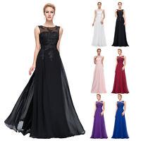 Übergröße 32-54 Applikation Lang Abendkleid Ballkleid Hochzeit Party Brautkleid