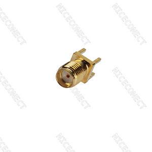 10x SMA Female Connector Solder Attachment Thru Hole PCB mount straight type Go
