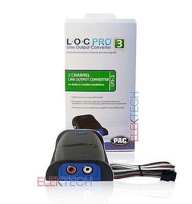 PAC LP3-2 L.O.C Channel 2 Pro Line Output Converter Adjustable Car Audio Two