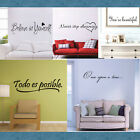 New Bible Wall Decal Scripture Quote Removable Art Vinyl Sticker DIY Home Decor