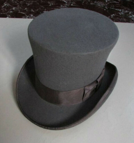 "Wedding 7/"" High Top Hat//Wool Felt Cylinder Hat// Stove pipe Hat //Topper  18cm"