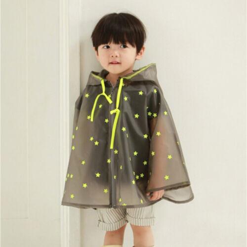 Premium 4Colour Children Unisex Spots Poncho Hooded Long Raincoat Outdoor Hiking