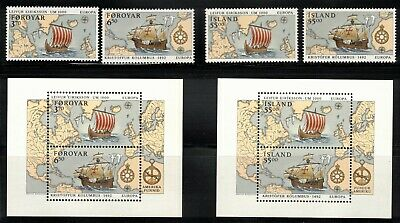 1992 Färöer Isl. Island Europa Cept Mnh Discovery Of America