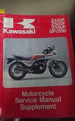 1983 1984 Kawasaki Z400f Z500f Z550f Gpz550 Service Repair
