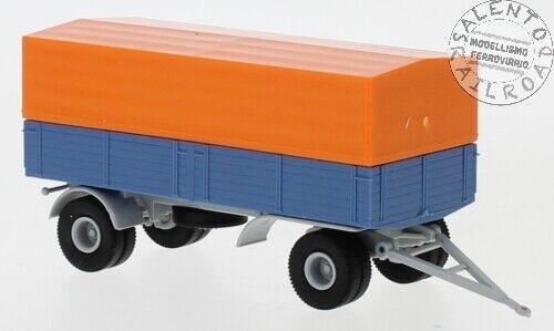 BREKINA 55331 rimorchio stradale cassonato con telone arancione - scala 1:87