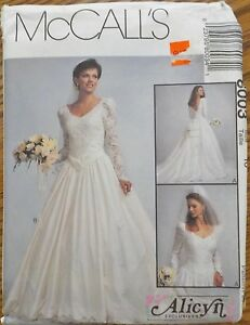 Mccall S Pattern 8003 Alicyn Misses Bridal Wedding Gown Uncut