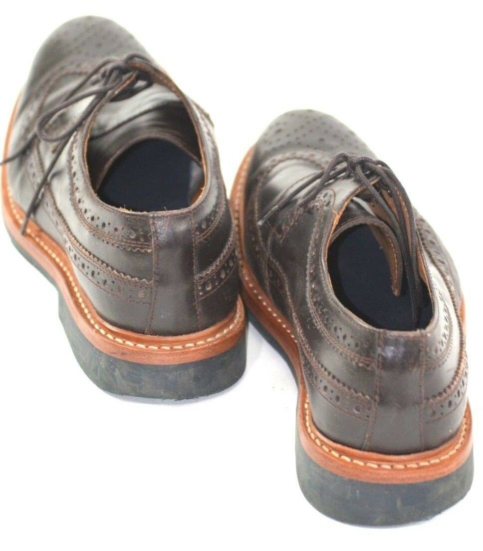 braun Leather Brogues Hardy Amies Grained Grained Grained Goodyear Welted Größe 9 839115