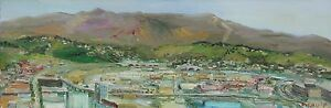 City-Hall-View-Los-Angeles-California-Plein-Air-Impressionism-Oil