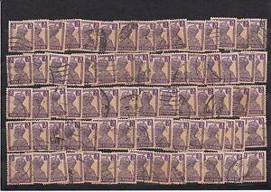 British-India-1940-Wholesale-Offer-King-George-VI-Three-Annas-100-Used-Stamps