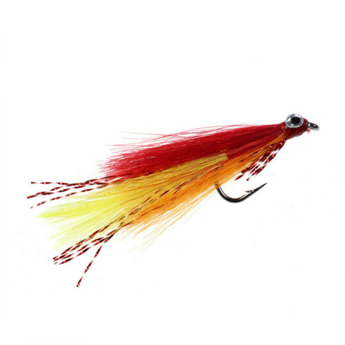 4PCS//Lot #6 Streamer Fly Minnow Bait Fish Artificial Trout Fly Fishing Lure