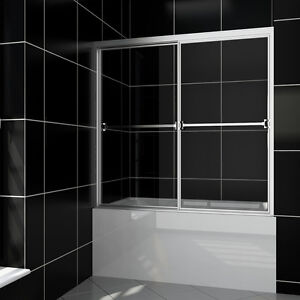 Bathtub Glass Doors 60 Quot Bypass Sliding Shower Screens Full