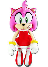 Ge Animation Sonic The Hedgehog Amy Rose in Red Dress Stuffed Plush 9 Inches