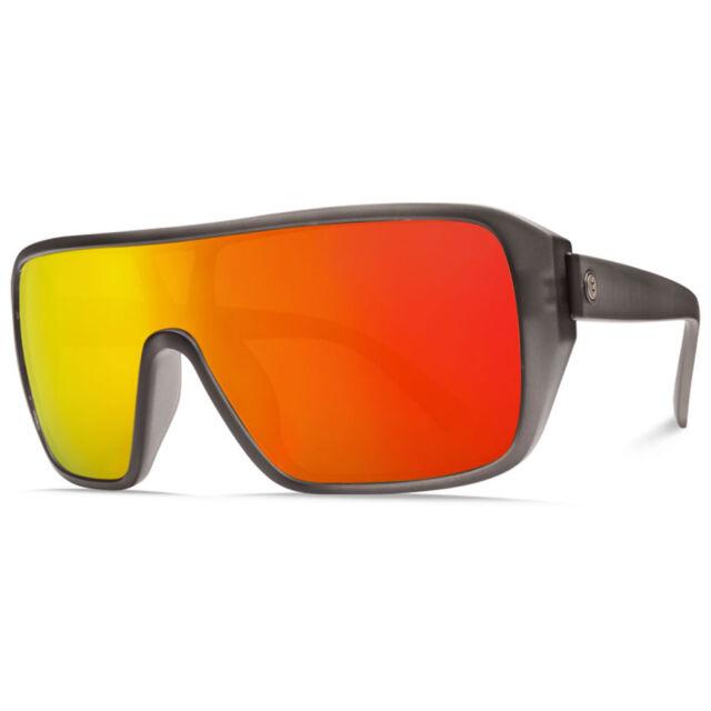2afe012cdd Electric Visual Blast Shield Matte Smoke   OHM Grey Fire Chrome Sunglasses