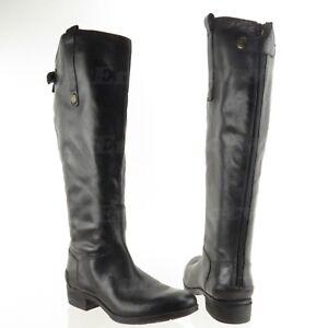 76de2d042 Sam Edelman Penny 2 Black Leather Knee High Zip-Up Boots Women s ...