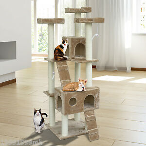 Christmas-Sale-6FT-Cat-Tree-Scratcher-Cat-House-Condo-Post-Toy-Pet-Furniture