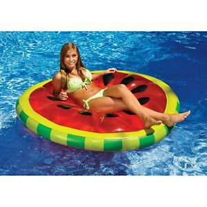 New-Swimline-Watermelon-Slice-Pool-Island-Inflatable-Raft-Pool-Party-Swimming