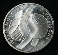 "1972 F 10 DM Munich Olympics 62.5% Silver Commemorative ""Knot"" Design"