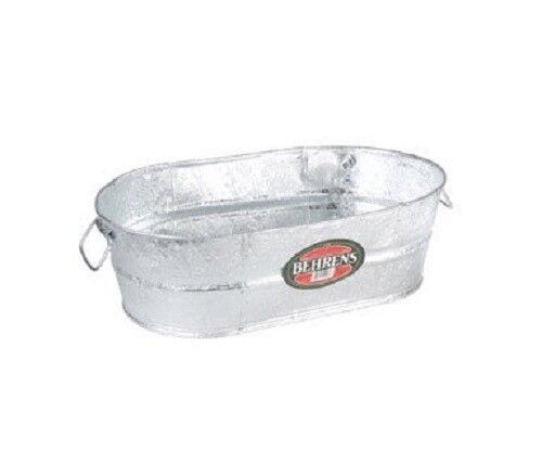 LOT OF (3) 10.5 GALLON HOT DIPPED GALVANIZED WATER OVAL WASH TUBS 6228423